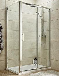 Lauren Pacific 1200 x 1850mm Single Sliding Shower Door