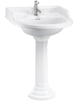 Burlington Classic 650mm Round Basin With Regal Round Pedestal