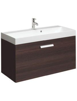 Bauhaus Design Plus 1000mm Single Drawer Wall Hung Basin Unit