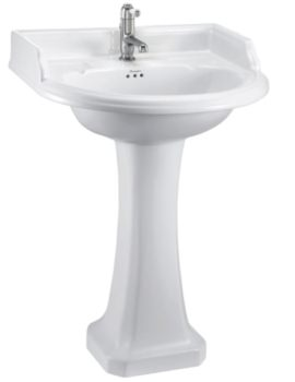 Burlington Classic Round 650mm Basin And Full Pedestal
