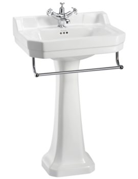Burlington Edwardian 560mm Basin With Regal Pedestal And Towel Rail