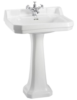 Burlington Edwardian 610mm Basin With Regal Pedestal