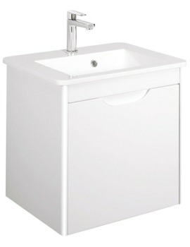 Bauhaus Solo 525mm Single Drawer Wall Hung Basin Unit