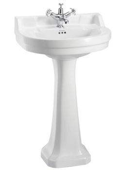 Burlington Edwardian Round 560mm Basin With Regal Pedestal