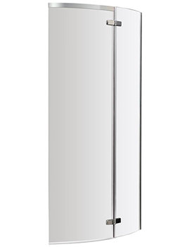 Premier Ella 730-740 x 1400mm Curved Screen For P-Shaped Shower Bath