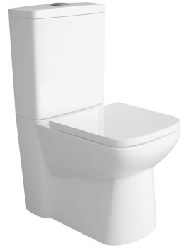 Lauren Ambrose Closed Coupled Compact Flush To Wall WC Pan 640mm And Cistern