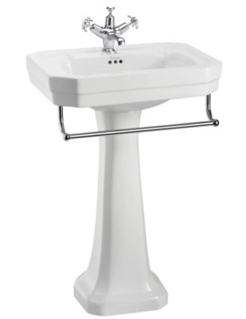 Burlington Victorian 560mm Basin With Full Pedestal And Towel Rail