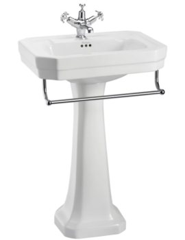 Burlington Victorian 560mm Basin With Regal Pedestal And Towel Rail
