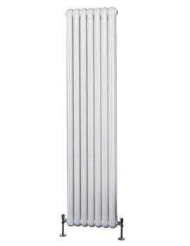 Phoenix Lilly 318 x 1800mm Vertical White Column Radiator