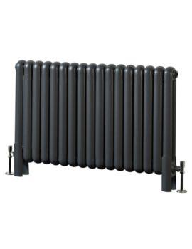 Phoenix Lilly 1032 x 400mm Horizontal Anthracite Column Radiator