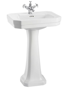 Burlington Victorian 560mm Basin And Full Pedestal