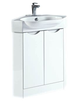 Phoenix Dakota 510mm White Corner Vanity Unit And Basin