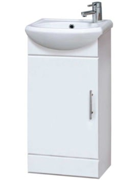 Premier Floor Standing Gloss White 420mm Cabinet With Basin
