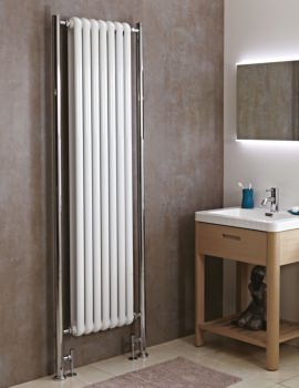 Phoenix Lilly Plus 468 x 2018mm Vertical Column Radiator White