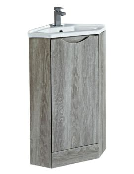 Phoenix Naples 410mm Wide Avola Corner Unit With Sink