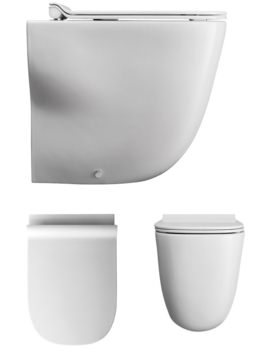 Bauhaus Wild Back To Wall WC With Soft Close Seat 520mm