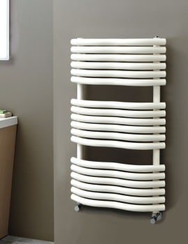 Phoenix Bow 520 x 1090mm Pre-Filled Electric Radiator Latte