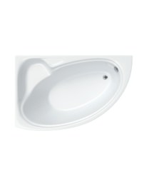 Carron Dove 5mm Acrylic Corner Bath 1550 x 950mm Right Handed