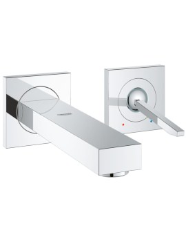 Grohe Eurocube Joy M-Size 2 Hole Wall Mounted Basin Mixer Tap