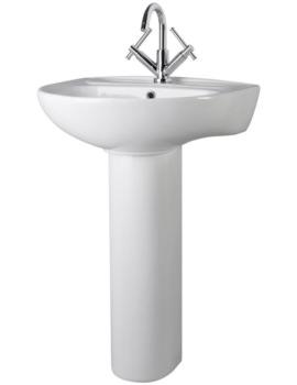 Premier Melbourne 550mm Wide Basin With Full Pedestal