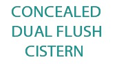 Dual Flush Concealed Cistern