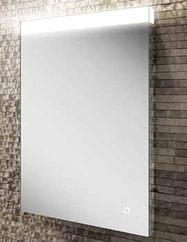 HIB Alpine 50 Portrait Steam Free LED Mirror 500 x 700mm
