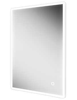 HIB Vega 60 Portrait LED Mirror With Charging Socket 600 x 800mm