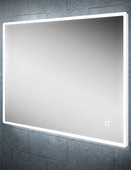 HIB Vega 80 Landscape LED Mirror With Charging Socket 800 x 600mm