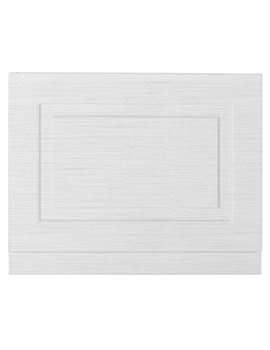 Lauren York 700mm Porcelain White Ash MDF Bath End Panel