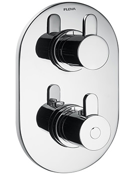 Flova Smart Concealed Thermostatic Shower Mixer With Shut Off Valve