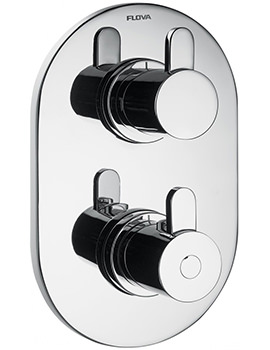 Flova Smart Concealed Thermostatic Shower Valve With 2 Way Diverter