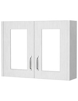 Premier York Porcelain White Ash 800mm 2 Door Mirror Cabinet