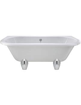 Lauren 1700 x 745mm Back-To-Wall Freestanding Acrylic Bath With Deacon Legs
