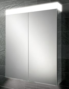 HIB Apex 60 Double Door Aluminium Cabinet with LED Illumination 600 x 750mm