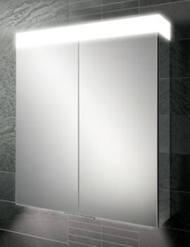 HIB Apex 80 Double Door LED Aluminium Cabinet 800 x 750mm