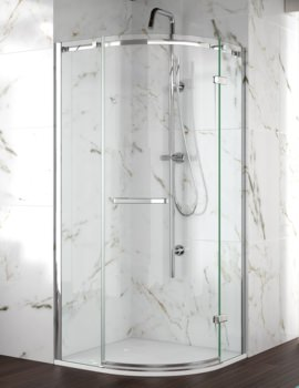 Merlyn 8 Series Frameless 1 Door Shower Quadrant