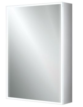 HIB Qubic 50 Single Door LED Illuminated Aluminium Cabinet 500 x 700mm