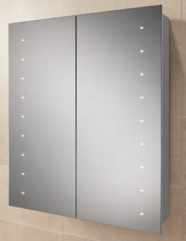 HIB Nimbus 60 Double Door LED Demisting Aluminium Cabinet 600 x 700mm