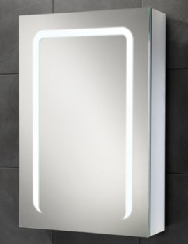 HIB Stratus 50 LED Demisting Single Door Aluminium Cabinet 500 x 700mm