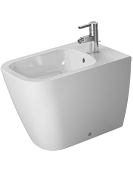 Duravit Happy D2 1TH Floor Standing Back To Wall Bidet 365 x 570mm