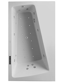Duravit Paiova 1700mm Monolith Corner Right Bath With Panel And Combi-System L