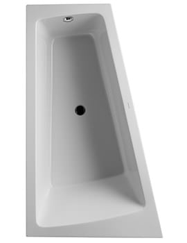 Duravit Paiova 1700 x 1000mm Left Backrest Slope Bath With Panel And Frame