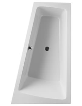 Duravit Paiova 1700 x 1000mm Built In Bath With Frame And Right Slope