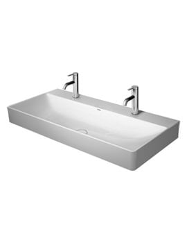 Duravit DuraSquare 1000mm Washbasin With 2 Tap Hole