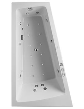 Duravit Paiova 1700 x 1000mm Left Slope Bath With Panel And Combi System E