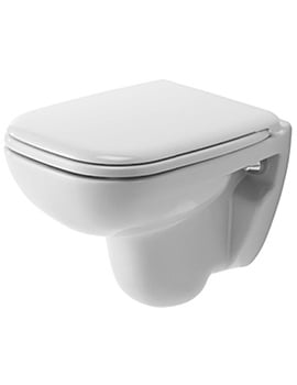 Duravit D-Code 350 x 480mm Wall Mounted Compact Toilet