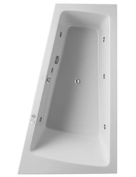 Duravit Paiova 1700 x 1000mm Built In Right Slope Bath With Jet System