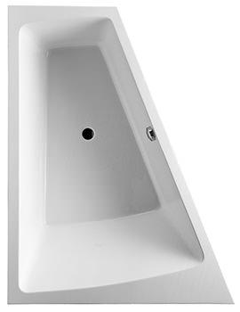 Duravit Paiova 1800 x 1400mm Built In Left Backrest Slope Bath