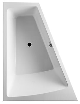 Duravit Paiova 1700 x 1300mm Built In Bath With Frame And Left Slope