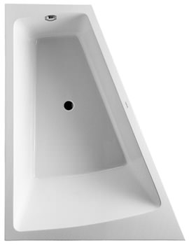 Duravit Paiova 1800 x 1400mm Left Backrest Slope Bath With Panel And Frame